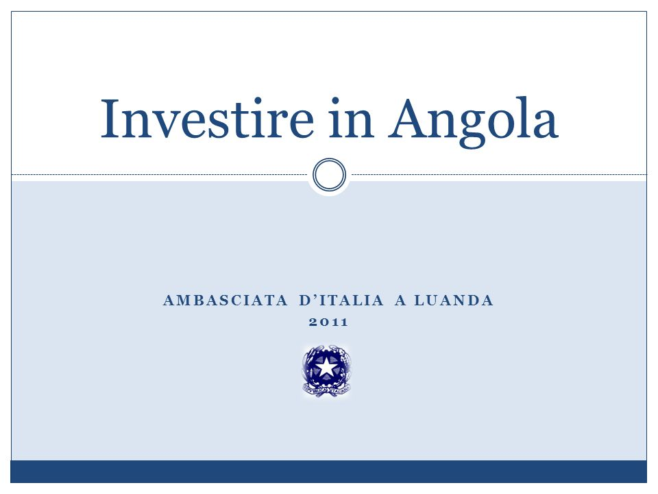 Ambasciata d'Italia a Luanda 2011