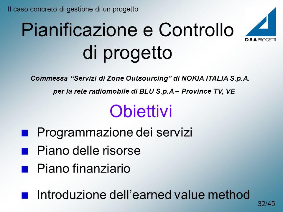 Pianificazione e Controllo di progetto