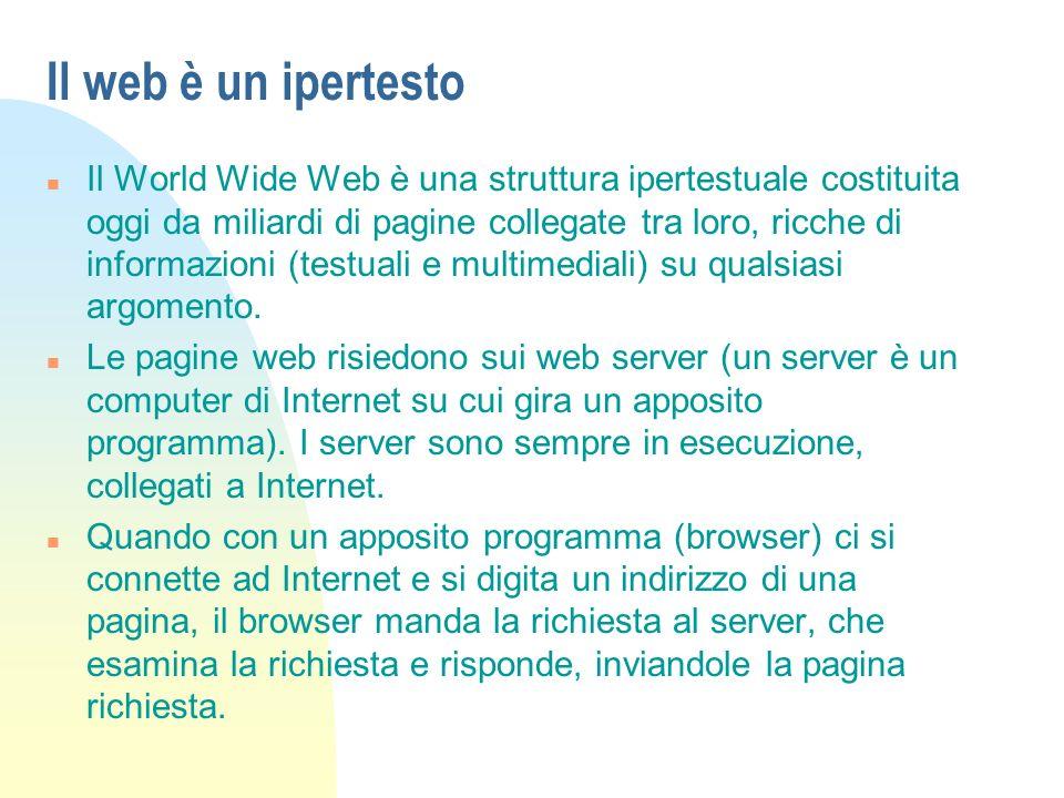 Il web è un ipertesto