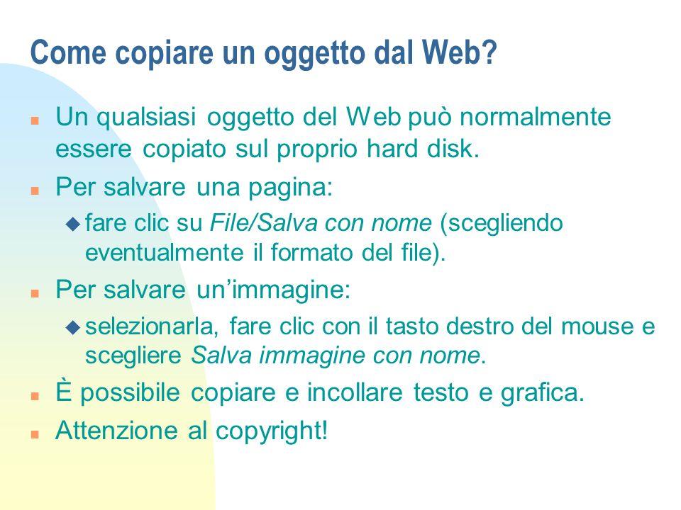 Come copiare un oggetto dal Web