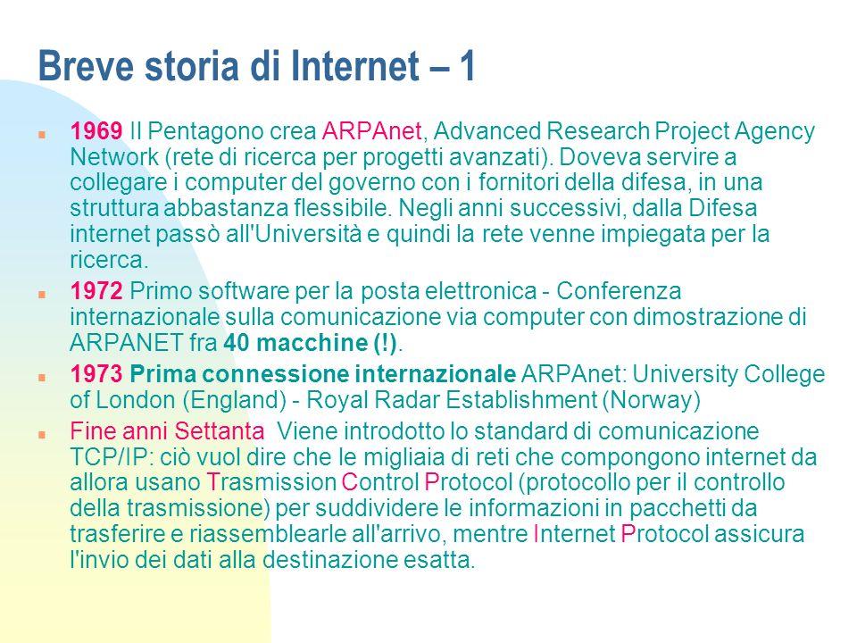 Breve storia di Internet – 1