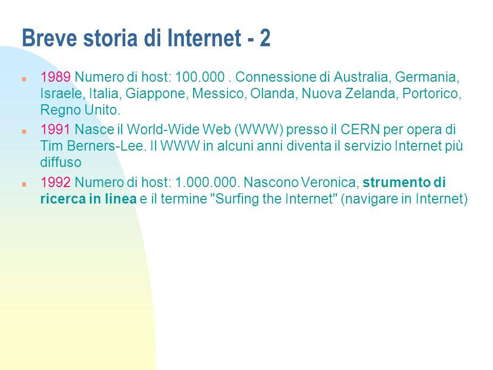 Breve storia di Internet - 2