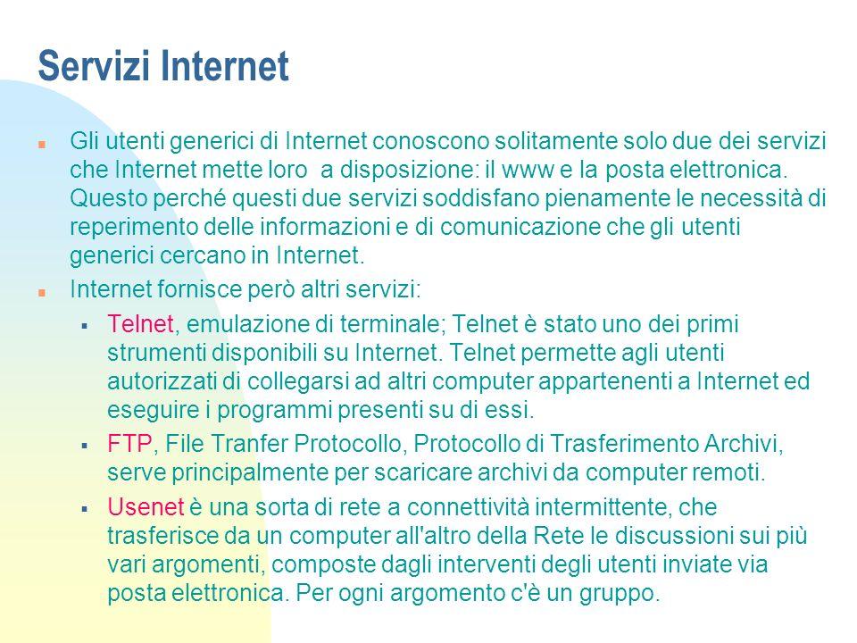 Servizi Internet