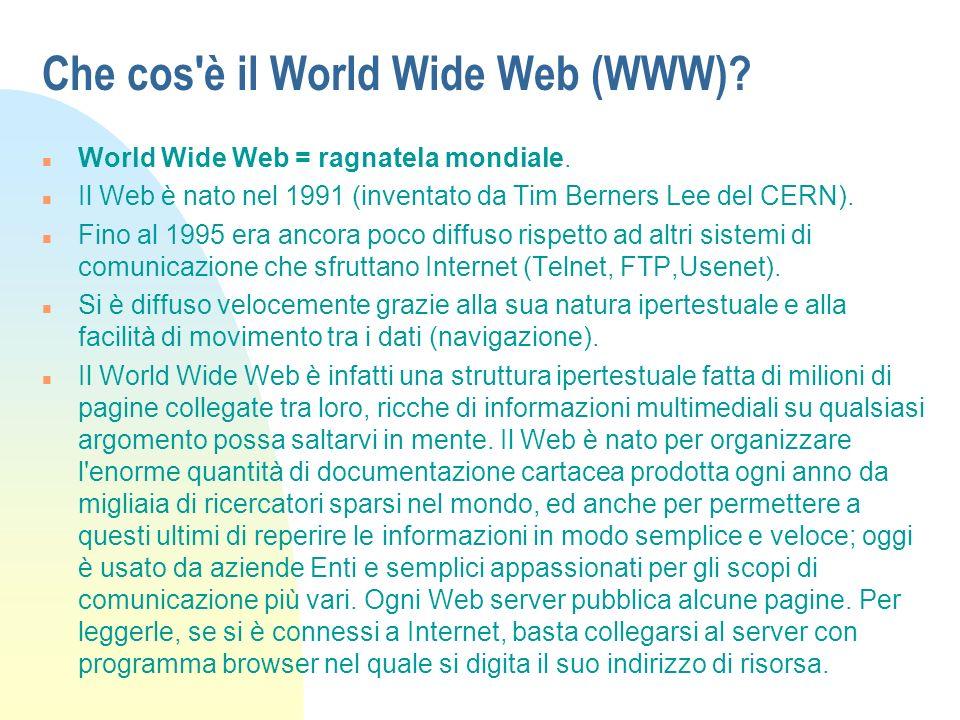 Che cos è il World Wide Web (WWW)