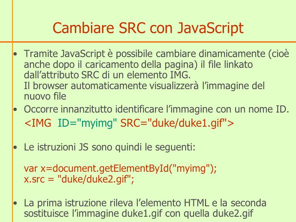Cambiare SRC con JavaScript