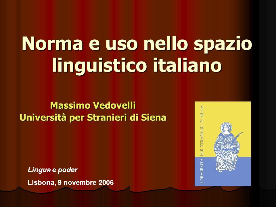 Norma e uso nello spazio linguistico italiano