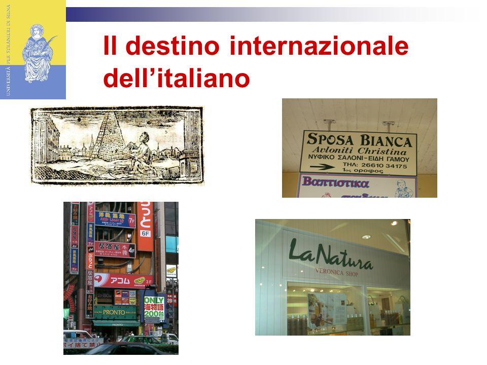 Il destino internazionale dell'italiano