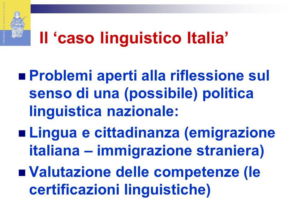 Il 'caso linguistico Italia'