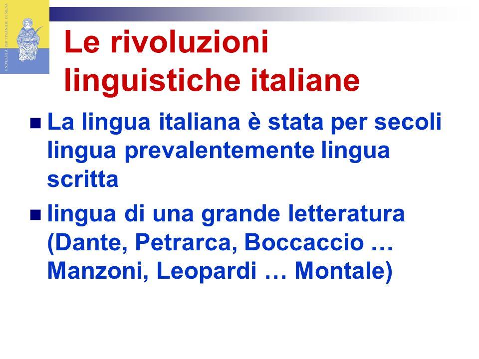 Le rivoluzioni linguistiche italiane