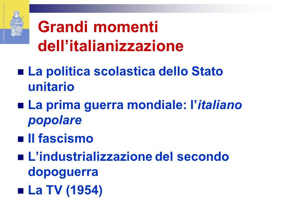 Grandi momenti dell'italianizzazione
