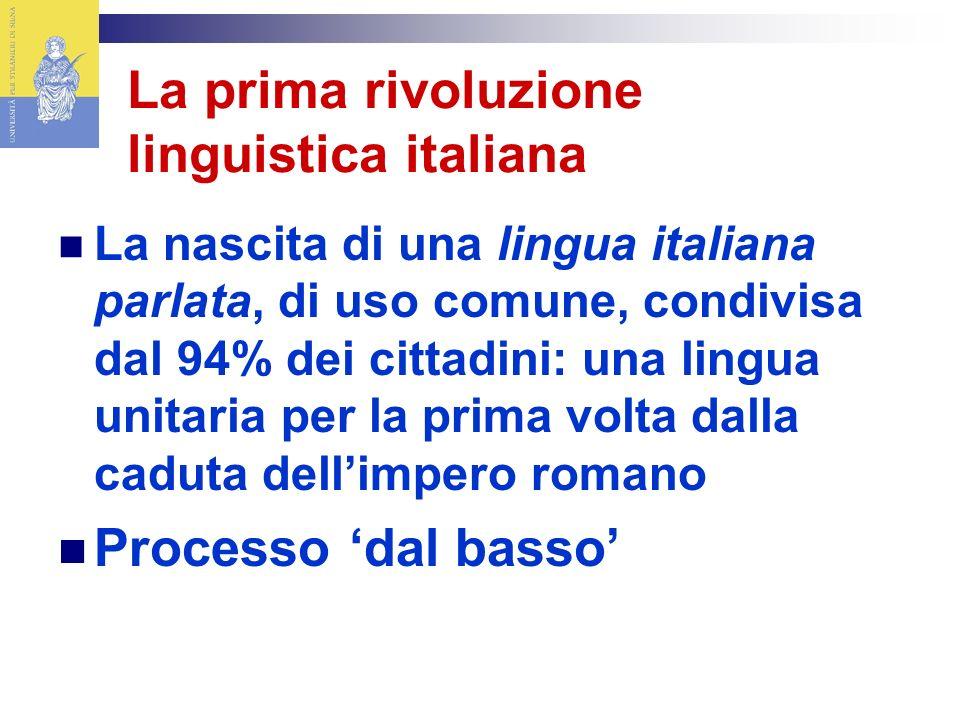 La prima rivoluzione linguistica italiana