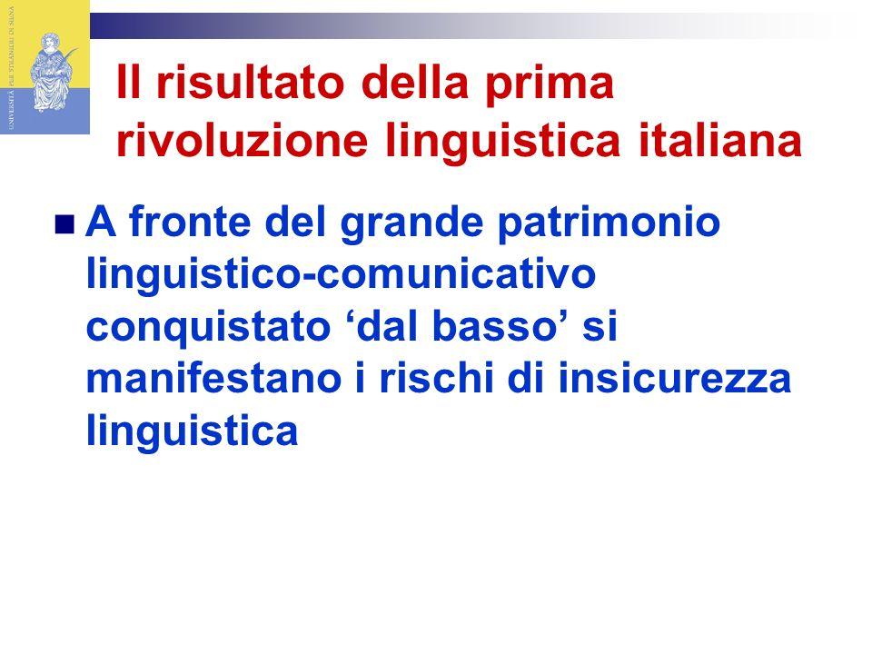 Il risultato della prima rivoluzione linguistica italiana
