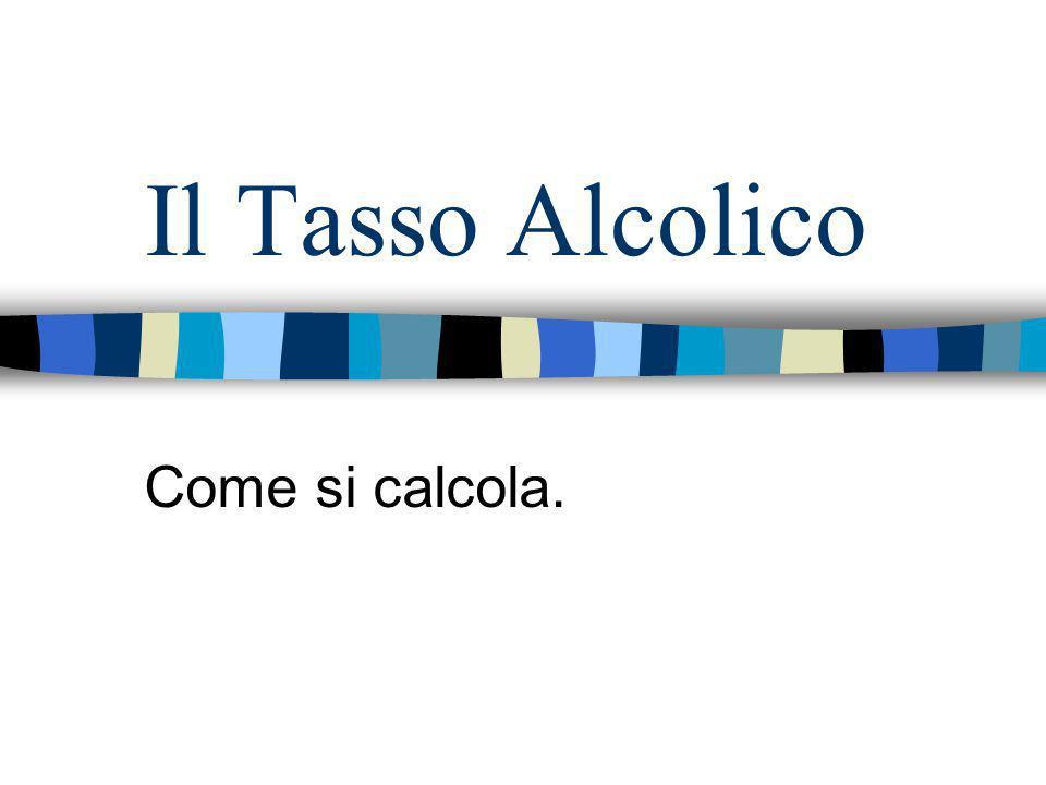 Il Tasso Alcolico Come si calcola.