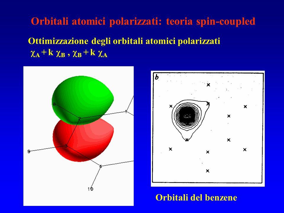 Orbitali atomici polarizzati: teoria spin-coupled