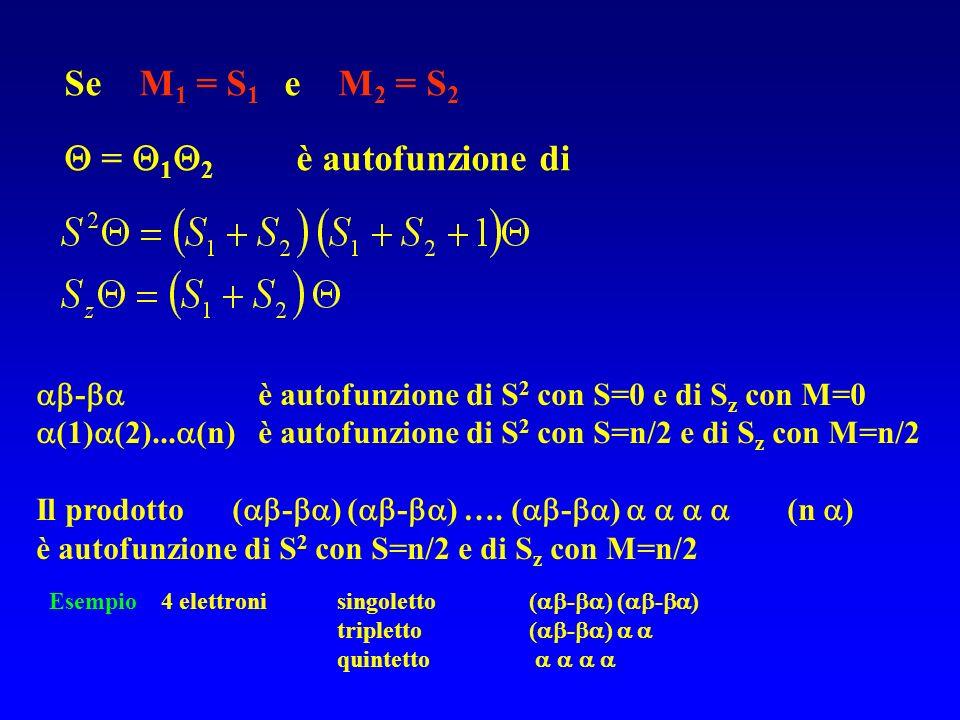 Se M1 = S1 e M2 = S2  = 12 è autofunzione di