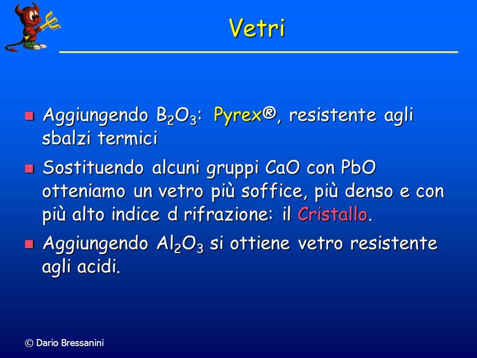 Vetri Aggiungendo B2O3: Pyrex®, resistente agli sbalzi termici
