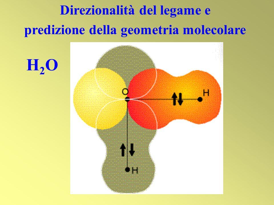 Direzionalità del legame e predizione della geometria molecolare