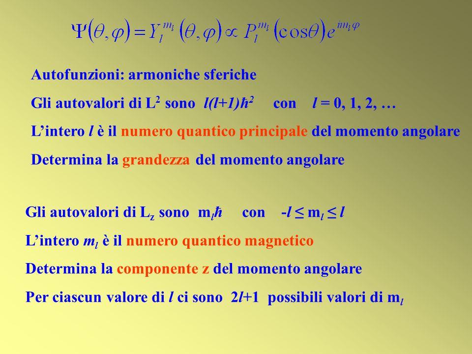 Autofunzioni: armoniche sferiche