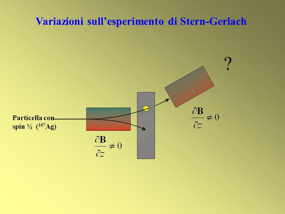 Variazioni sull'esperimento di Stern-Gerlach