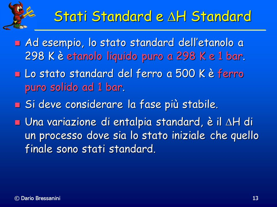 Stati Standard e DH Standard