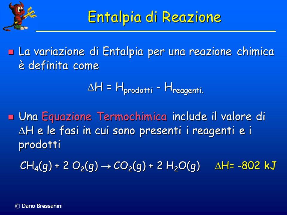 DH = Hprodotti - Hreagenti.