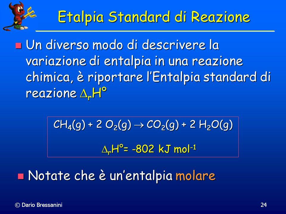 Etalpia Standard di Reazione