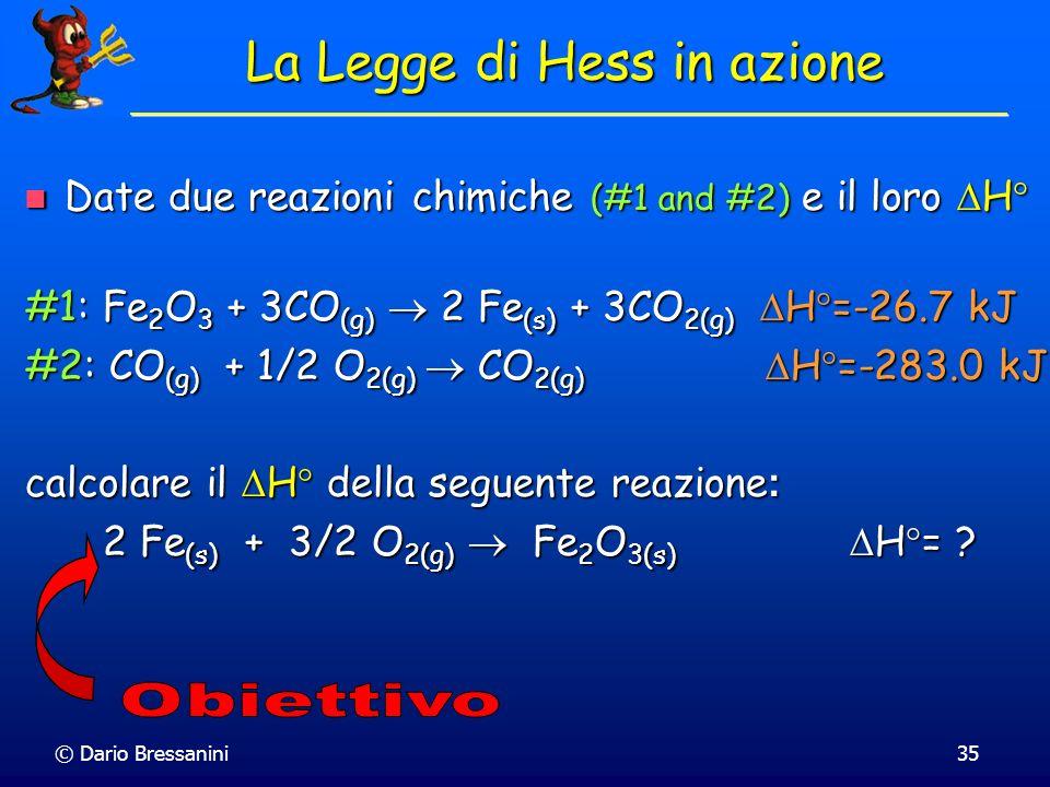 La Legge di Hess in azione
