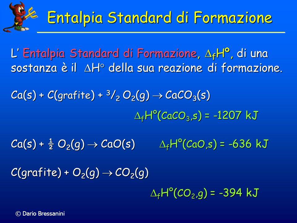 Entalpia Standard di Formazione