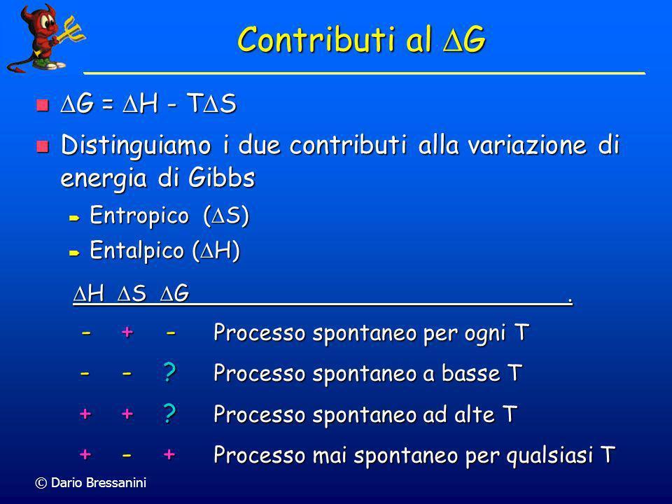 Contributi al DG G = H - TS