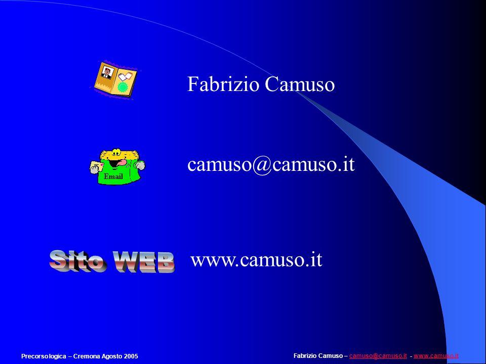 Sito WEB Fabrizio Camuso camuso@camuso.it www.camuso.it