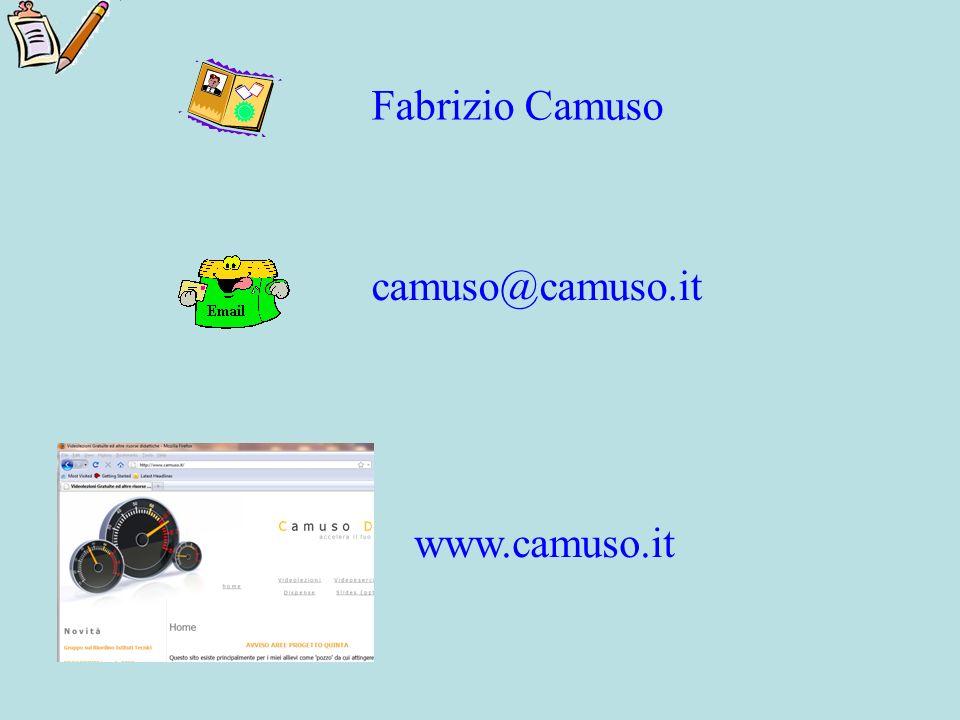 Fabrizio Camuso camuso@camuso.it www.camuso.it