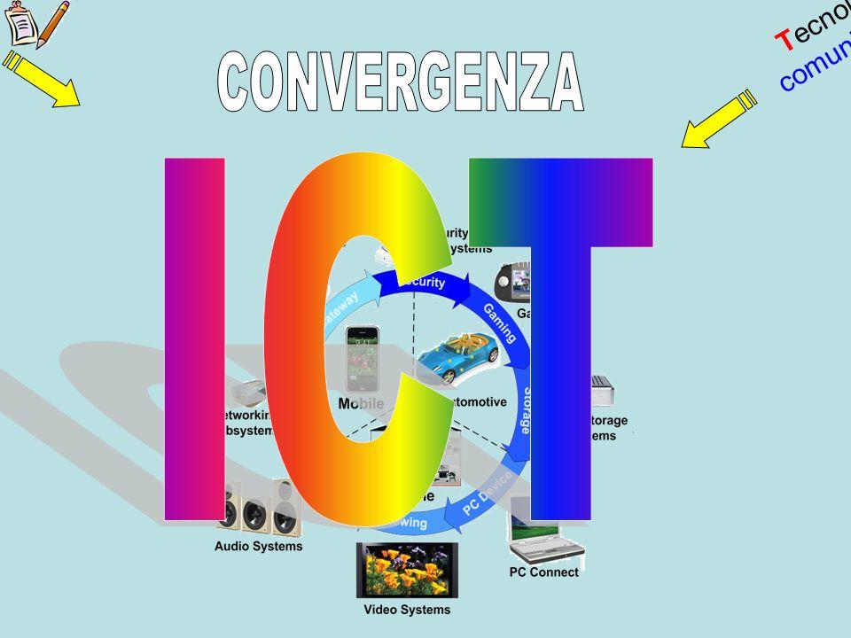Tecnologia informazione Tecnologia comunicazione CONVERGENZA ICT
