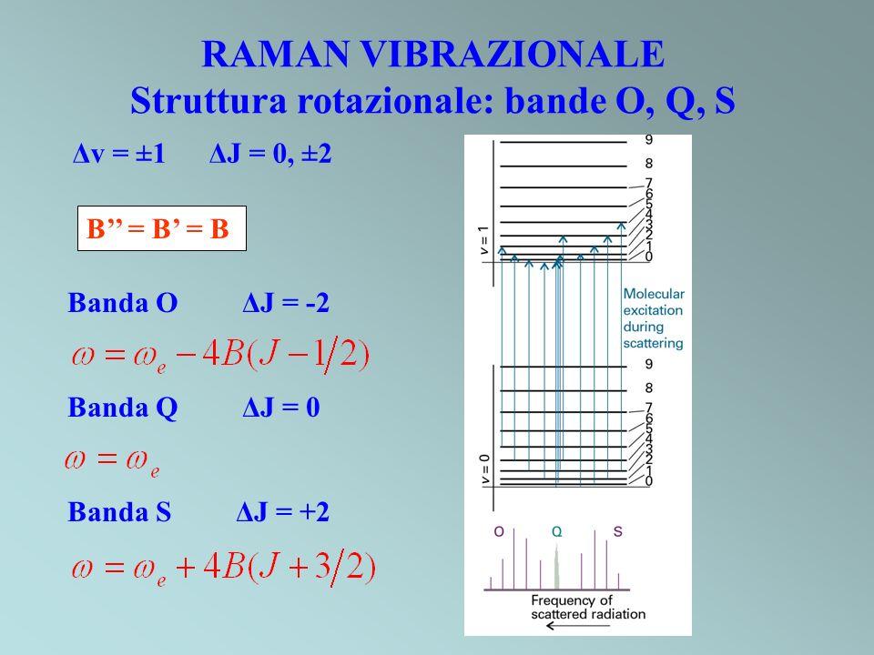 Struttura rotazionale: bande O, Q, S