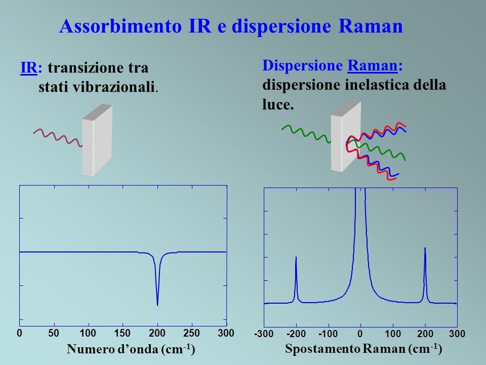 Assorbimento IR e dispersione Raman