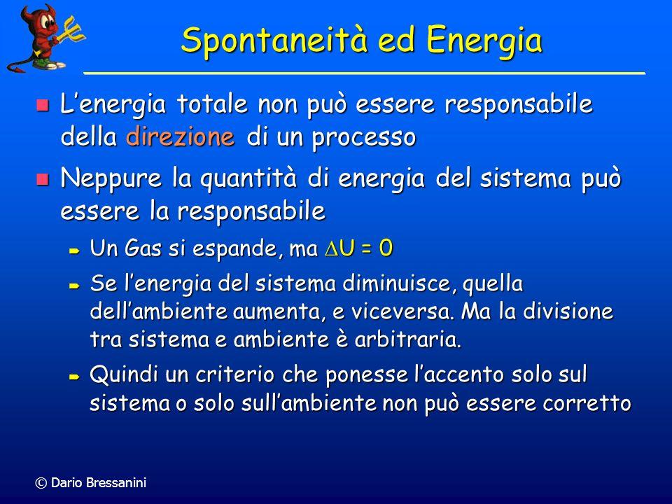 Spontaneità ed Energia