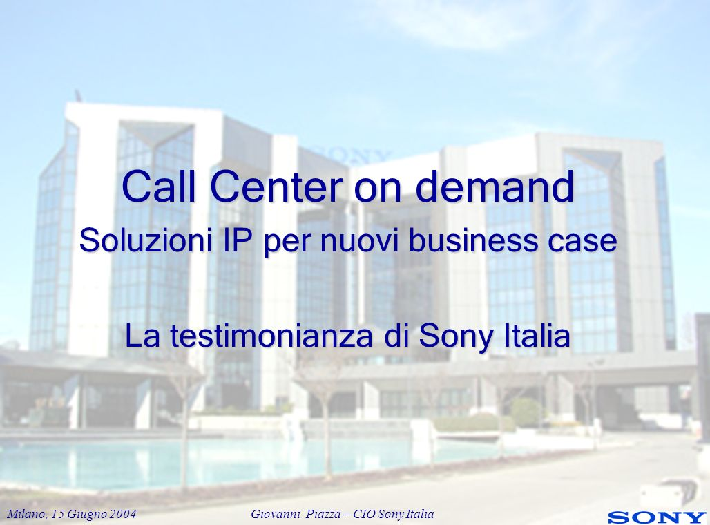 Call Center on demand Soluzioni IP per nuovi business case
