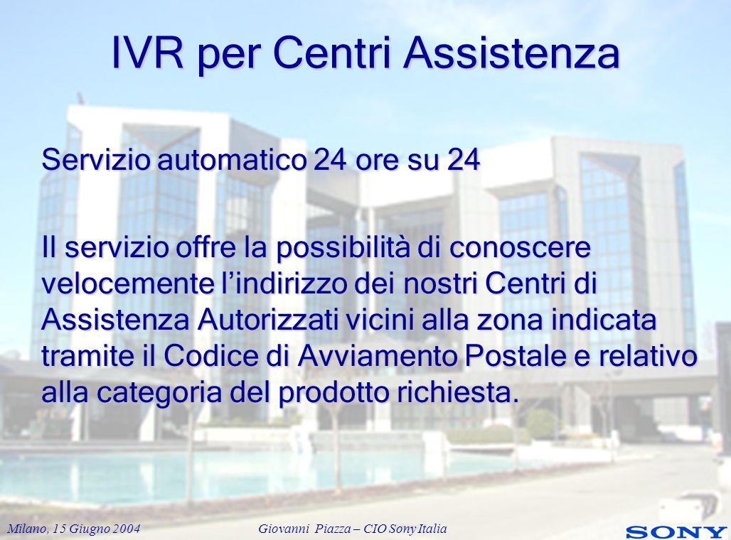 IVR per Centri Assistenza