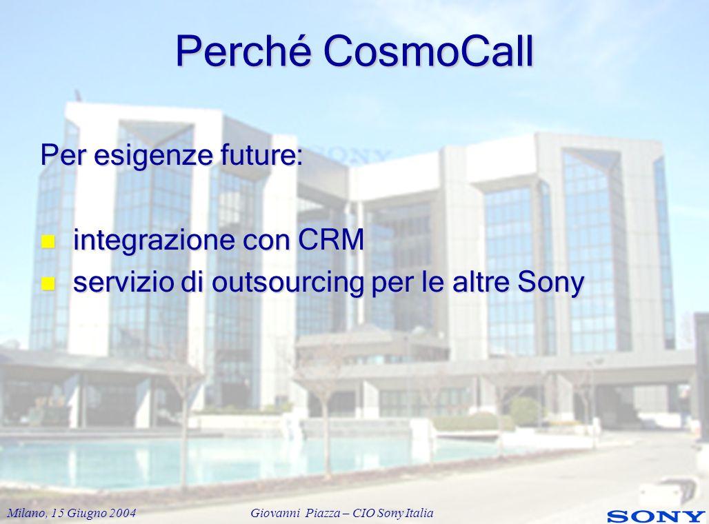 Perché CosmoCall Per esigenze future: integrazione con CRM