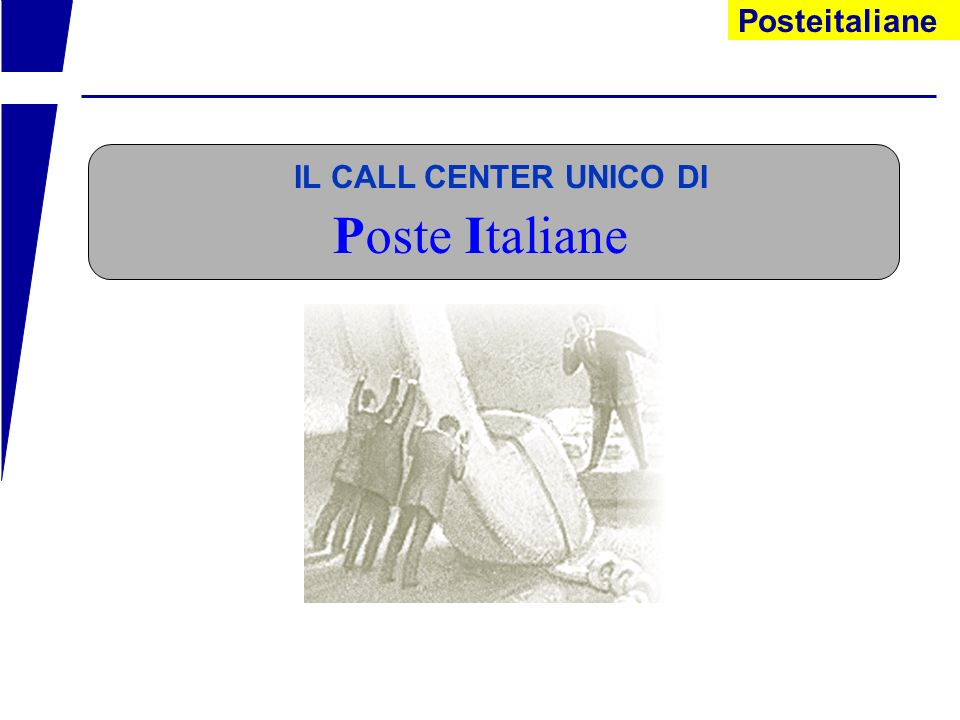Poste Italiane IL CALL CENTER UNICO DI