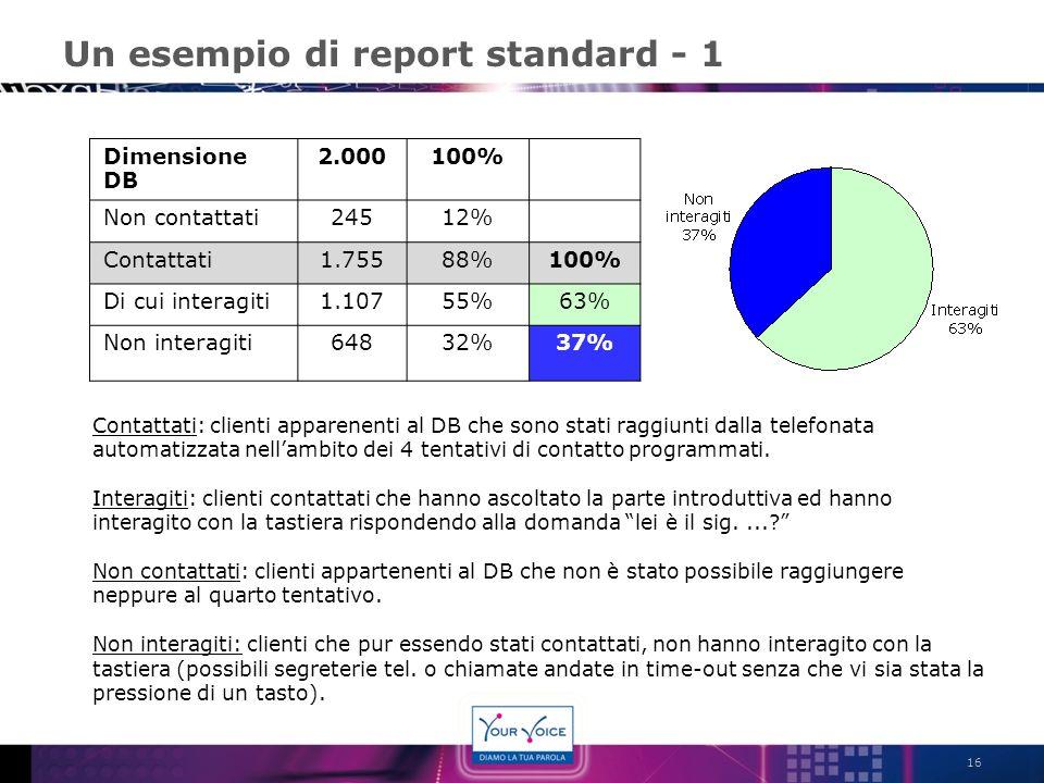 Un esempio di report standard - 1