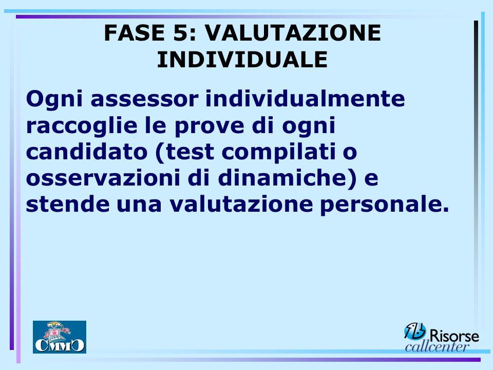 FASE 5: VALUTAZIONE INDIVIDUALE
