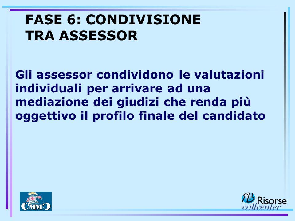 FASE 6: CONDIVISIONE TRA ASSESSOR
