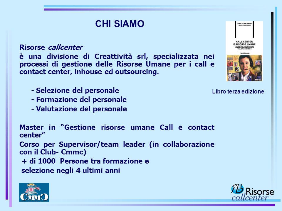 CHI SIAMO Risorse callcenter
