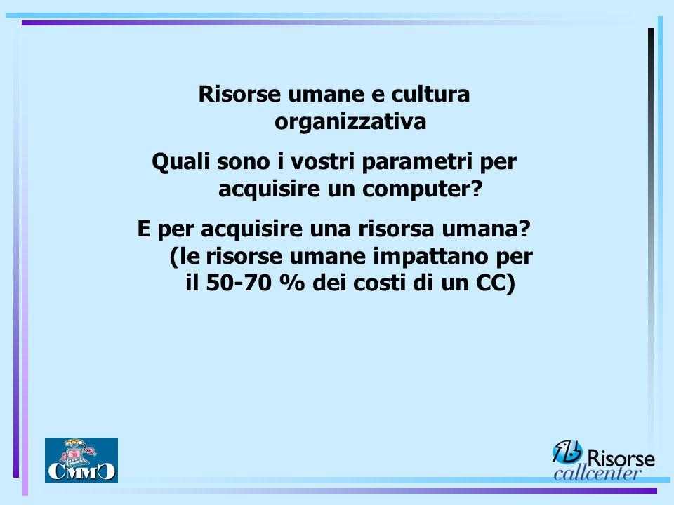 Risorse umane e cultura organizzativa