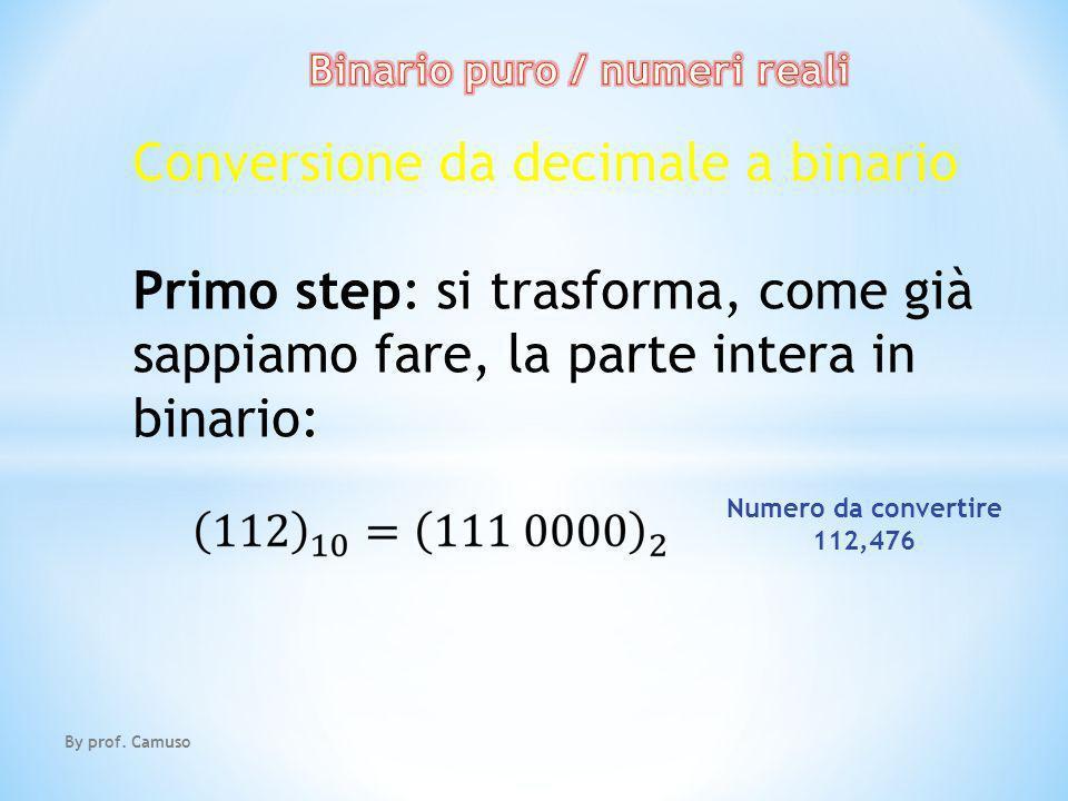 Binario puro / numeri reali