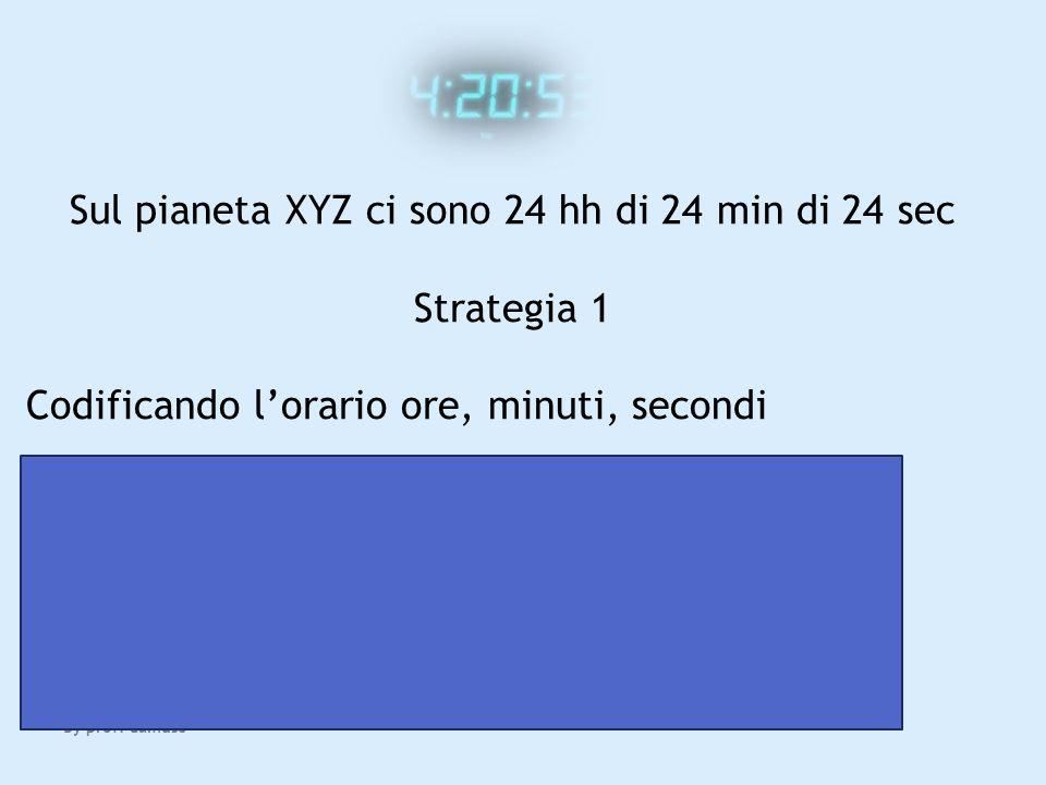 Sul pianeta XYZ ci sono 24 hh di 24 min di 24 sec