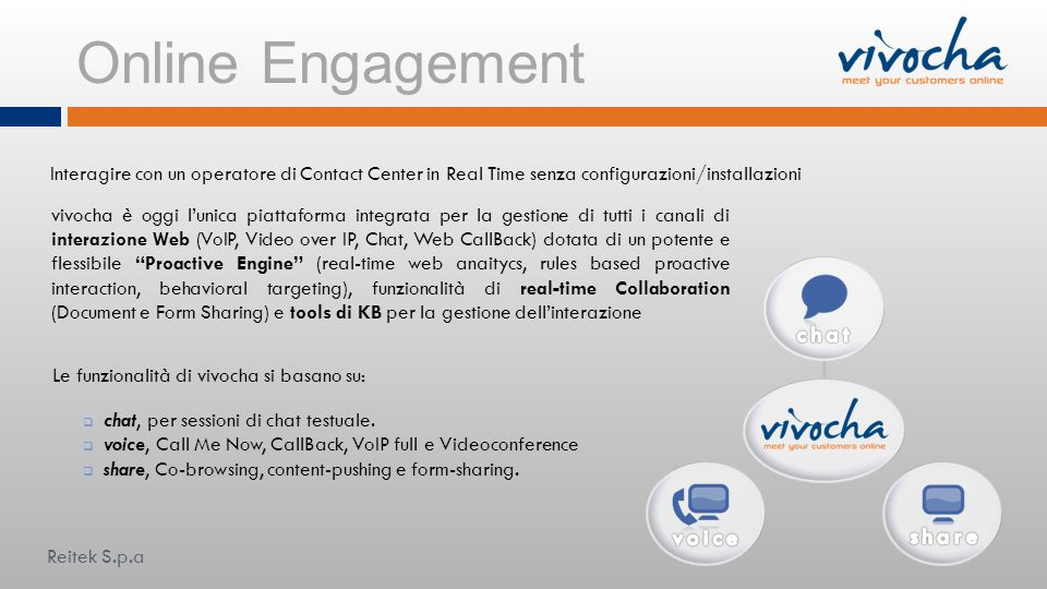 Online Engagement chat voice share