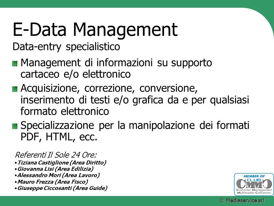 E-Data Management Data-entry specialistico