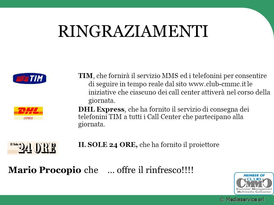RINGRAZIAMENTI Mario Procopio che … offre il rinfresco!!!!