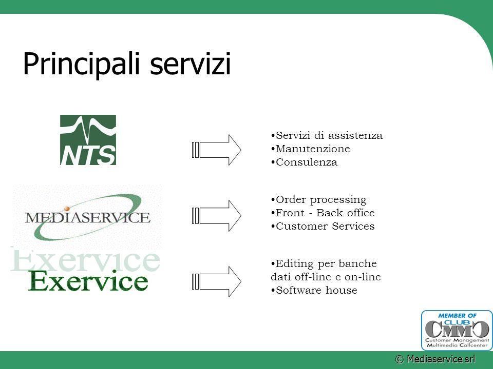 Principali servizi Exervice Servizi di assistenza Manutenzione